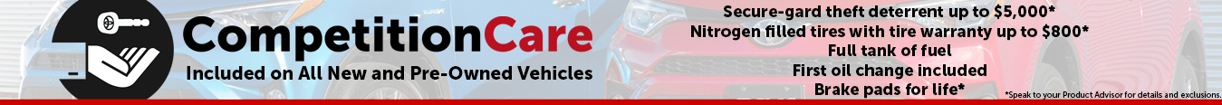 Competition Care - Included on All New and Pre-Owned Vehicles