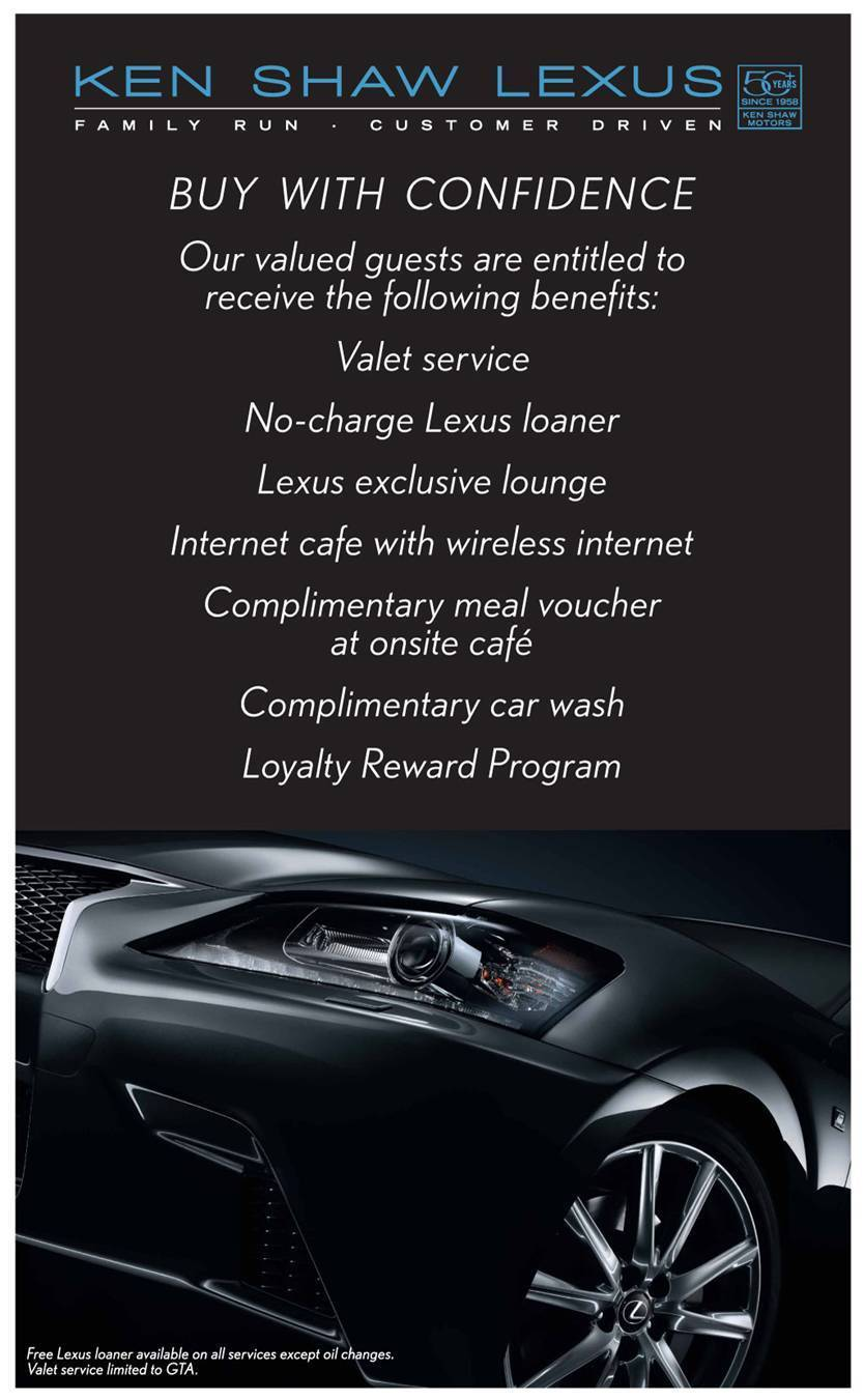 PERKS with Ken Shaw Lexus