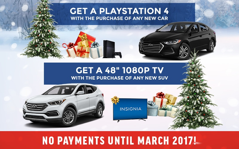 Get a playstation 4 with a purchase of any new car