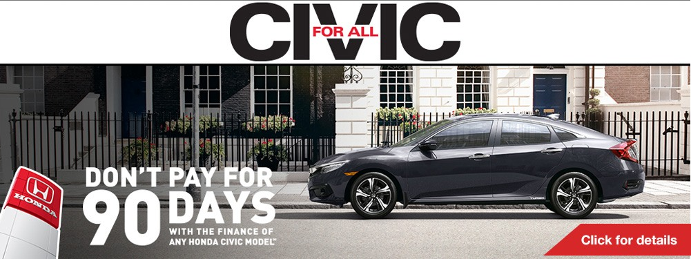 Civic Don't Pay For 90 Days