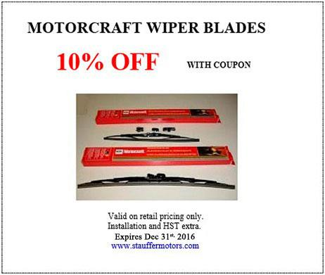 Mr. Lube's Coupons for famous free wiper blades offer is back! Get an oil change at any landlaw.ml location in Canada, and give them this coupon and they will give you a brand new set of Michelin Hybrid Wiper Blades absolutely FREE.
