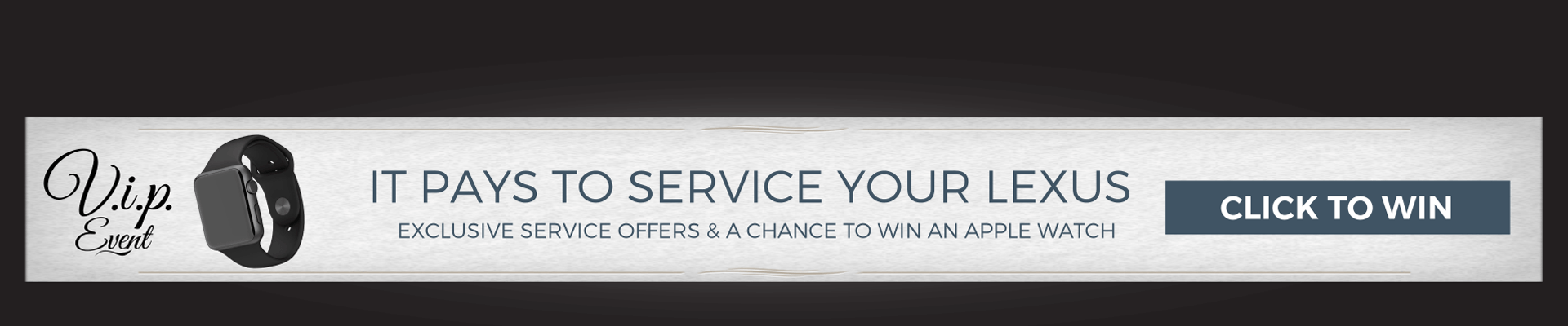 Service your lexus to win an Apple watch