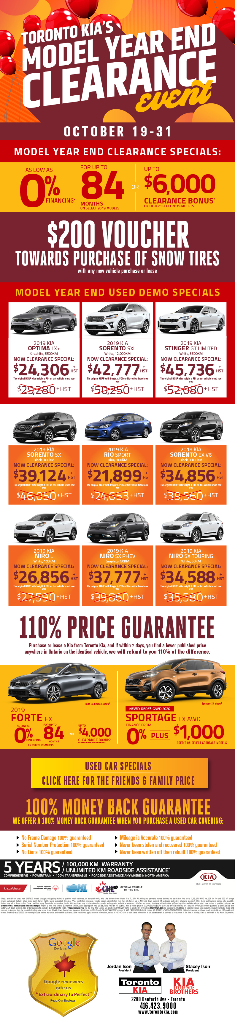 Toronto Kia Clearout Sales Event